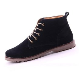 Wholesale Mens Pointed Toe Ankle Boots - Wholesale-100% New British Mens Casual Lace Suede Ankle Boots Loafers Shoes Sneakers