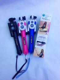 2019 plastik-selbststöcke Erweiterbar Selfie Stick Handheld Stativ Einbeinstativ + Clip Halter + Bluetooth Kamera Auslöser Fernbedienung Für Telefon Kamera Großhandel