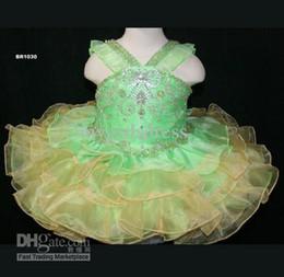 Wholesale Girls Pageant Dress Little Rosie - HOT SALE YELLOW BABY PAGEANT DRESS LITTLE ROSIE