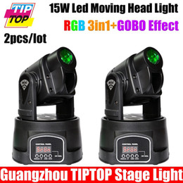 Wholesale Stage Light Moving Gobo - Wholesale-2XLOT 15W LED Mini Moving Head Spot Effect DL Light Moving Head GOBO Light,Stage Effect Light for Bar,Disco Party,Hotel,DJ Club