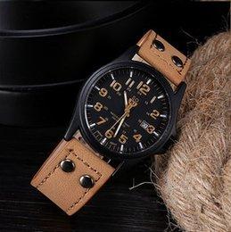 Wholesale Watch Soki - 2016 wholesale promotion Luxury Famous Design SOKI Brand men Watch Quartz Wristwatches Brown Green Khaqi Free shipping