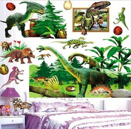 Wholesale Boy Nursery Decor - RoomMates Dinosaurs Peel & Stick Wall Decals Cartoon Wall Decor Kids Boys Nursery Decor 10p l Free Shipping