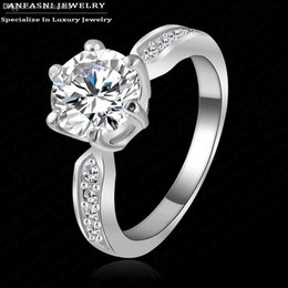 Wholesale Wholesale New Finger Genuine - Wholesale-New 2015 Finger Ring Austrian Crystal Jewelry Rings Real 18K Rose Gold Plated Genuine SWA Stellux Ring Ri-HQ1053