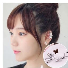Wholesale Earring Hook Screw - Hot Sale Silver Gold Plated Starfish Crystal Pearl Earrings Ear Hook For Women Girl ear Stud Clip On Screw Back Earrings Jewelry