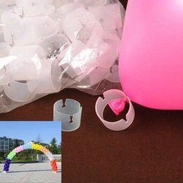Wholesale Arch Balloons For Parties - 50Pcs lot Balloon Arch Folder Convenient Buckles Clip Balloon Connector Ring Buckle For Wedding Birthday Party Supplies