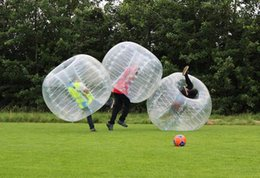Wholesale Hamsters Free Shipping - Good Quality 1.5m PVC zorb ball inflatable human hamster bubble soccer zorbing outdoors sports Free shipping