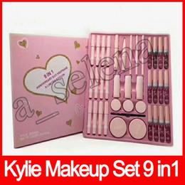 Wholesale Christmas Keepsakes - Kylie 9 IN 1 Anniversary Suit Keepsake A Limited Edition Makeup Set Kylie Jenner Matte Liquid Lipstick Kim BB Cream free shipping