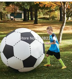 Wholesale Kids Beach Supplies Cartoon - 130cm Gigantic Inflatable Soccer Volleyball For Boys Children Outdoor Beach Toys Adult Garden Party Supply Kids Giant Football