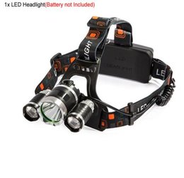 Wholesale Low Energy Lamps - Hot sale 9000LM LED Headlamp headlight 4 Mode Energy Saving Outdoor Sports Camping Fishing Head Lamp LED Flashlights Light