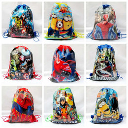 Wholesale Drawstring Backpack Animals - Star Wars Backpacks The avengers backpacks bags non-woven drawstring bags children school backpacks cartoon kids bags Y263-1