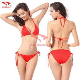 Wholesale Sexy Design Bikini - Classic Design Plain Black Sexy Bikini Swimwear Swimsuit One Free Size Bikini swimwear swimwear 11color DM005