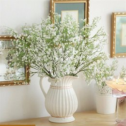 Wholesale  Artificial Gypsophila Silk Flowers Wedding Party Bouquet Floral  Decor Crafts Home Office Garden Plastic Flower Embellishment From  Dropshipping ...