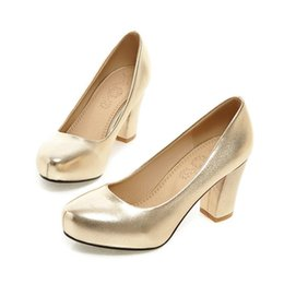 Wholesale Ladies Shoes Size 44 - 2016 Summer New Elegant Office Ladies Formal Dress Shoes 5 Color Sexy EUR 31-44 Size Sexy Women Pumps High Heels