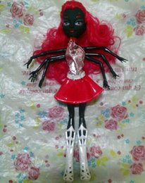 Wholesale Comic Shoes - 1 Piece Monster Doll Black Wydowna Spider Polyarticular Turnable Webarella Diy Dolls With Head Clothes Shoes High Quality Toys