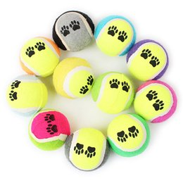 entrenamiento de pelota de tenis Rebajas 5pcs / Lot Multicolor Tennis Ball Pet Dog Toy Ball Outdoor Training masticar productos