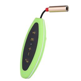 Mp3 ipx8 4gb онлайн-CJX601 4GB MP3 музыкальный плеер IPX8 водонепроницаемый с наушниками FM-радио дизайн клипа для плавания работает дайвинг синий