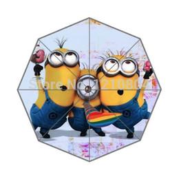 Wholesale Despicable Customs - Wholesale-POOKOO!! MORE TYPES!! Congratulant Minion Despicable Me Personalized Custom Foldable Rain Umbrella 43.5 inch Wide Good Gift