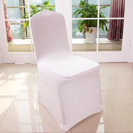 Wholesale Universal Cover Chair - Wholesale 100pcs Universal Polyester Spandex Wedding Chair Covers for Weddings Banquet Folding Hotel Decoration,white #HC01-72
