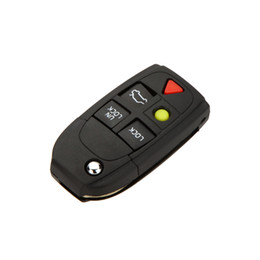 Wholesale Volvo Key Shell - 5 Buttons Flip Folding Car Key Shell Replacement for Volvo XC70 XC90 V50 V70 S60 Car Key Case Remote Car Cover No Chip