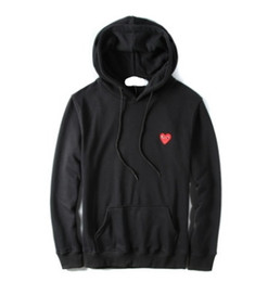 Wholesale Heart Sweater Xl - 2017 HOT SALE FASHION Red heart love thin sweater Men and women lovers pure cotton casual jacket