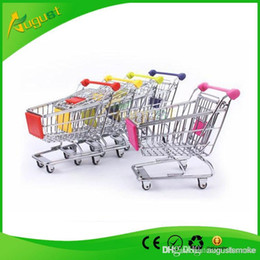 Wholesale Shopping Cart For Children - 120PCS shopping cart Special offer creative mini multi-function supermarket trolley cart model metal for children to receive the trumpet