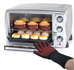 Wholesale Heat Finger - 6 Styles Full Finger Gloves Antiskid Insulated Glove The Oven Gloves High Temperature Heat Resistant Microwave Gloves