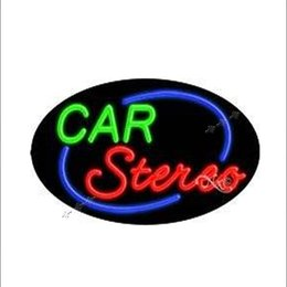 22x14 Car Stereo Flashing Handcrafted Decorate Neon Light Sign Store Display Beer Bar Sign Led