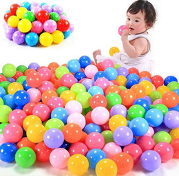 Wholesale Funny Water Sports - 100pcs lot Eco-Friendly Colorful Soft Plastic Water Pool Ocean Wave Ball Baby Funny Toys Stress Air Ball Outdoor Fun Sports kids