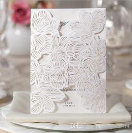 Wholesale Pocket Invitation Envelopes - Gorgeous Laser Cut Floral Wedding Invitation Card Pocket 2015 Save the Date Cheap Marriage Card + envelope & seal