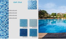 Wholesale Mosaic For Pool - glass mosaic tile for swimming pool tile blue color wall tile popular design wall mosaic flooring tiles tiles flooring building supplies