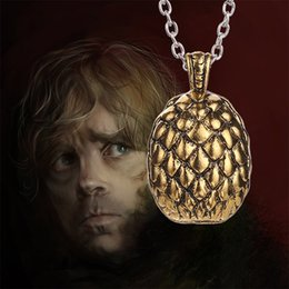 Wholesale Dragon Egg Pendant - games GAME OF THRONE rights Game of Thrones dragon egg necklace Fashion movie A Song of Ice and Fire GAME OF THRONE dragon egg pendant160520