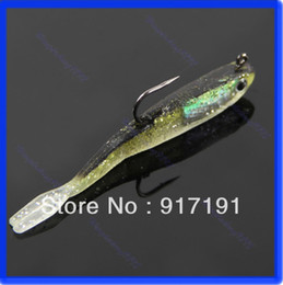 Wholesale Saltwater Fishing Lures Heads - Free Shipping 3pcs lot 70mm 6g Sinking Fishing Lures Lead Jig Head Fish Bait Tackle Hook order<$18no track