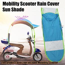 Wholesale Mobility Electric Scooter - Electromobile Mobility Scooter Rain Cover Sun Shade Electric Car Umbrella Raincoat Poncho Dust Proof Rain Gear Accessories Blue