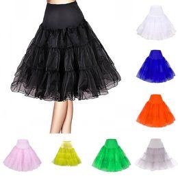 Wholesale Cheap Red Underwear - Cheap Girls Women A Line Short Crinoline Petticoats Free Shipping Black Ivory For Short Party Dresses & Wedding Dresses Underwear ZS019