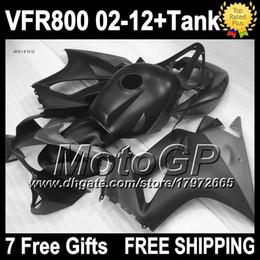 Wholesale Vfr Interceptor - +Tank For HONDA 2002 2003 2004 2005 2006 Matte black VFR800 interceptor 02-12 1G6206 VFR 800 RR VFR800RR 02 03 04 05 06 Flat black Fairing