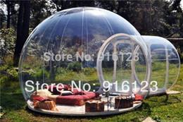 2019 tienda de campaña para acampar al aire libre Tienda al aire libre de la burbuja del pvc de 0.3mm que acampa, tienda inflable clara del césped, tienda de la burbuja tienda de campaña para acampar al aire libre baratos