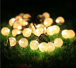 Wholesale Solar Decorative Lights For Halloween - Outdoor Solar String Light garland 20LED String Lights Bubble Crystal Ball Lights Decorative Lighting for Indoor Garden Home Patio Lawn Part