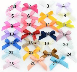 Wholesale Clothing Embellishments Wholesale - Factory Handamde bow Children Clothes Accessories Satin Ribbon Bow Wedding Scrapbooking Embellishment Crafts .Home Decoration.sale .1000pcs