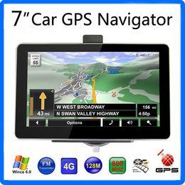 Wholesale Books English - 7 inch Car GPS Navigator HD 800*480 Screen FM Transmitter 22 Tracking 66 Acquisition WinCE6.0 4GB IGO Primo Maps