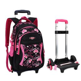 Wholesale Travel Trolley Wheels Luggage Bag - Trolley School Bag with Wheels Backpack Children Travel Bag Rolling Luggage Schoolbag for Kids Backpack Bolsas Mochilas Bagpack