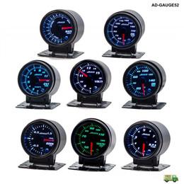 "Wholesale 52mm auto gauges - Car Auto Meter 12V 52mm 2"" 7 Colors PSI Turbo Boost Gauge LED With Sensor and Holder AD-GA52-FS"