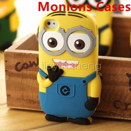 Wholesale Galaxy S3 3d Cases - 3D Despicable Me 2 soft silicone case minions for iphone 4 4S 5 5S 6 PLUS Samsung galaxy S3 S4 S5 S6