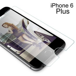 Wholesale Glass Screen Protector Iphone5 - For Iphone5 6 6plus Ultra Slim Crystal Clear Premium Tempered Glass Screen Protector 0.2mm 2.5D High Quality