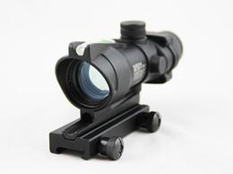 Wholesale Tactical Rifle Scope Fiber - ACOG Style 1x32 Green dot Scope With Green Fiber Tactical Real Fiber Riflescope