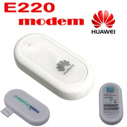 Wholesale Hsdpa Tablets - by dhl or ems 10 pieces HUAWEI E220 3G HSDPA USB MODEM 7.2Mbps wireless network card ,support google android tablet PC
