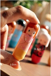 Wholesale Kimono Lip Balm - Lovely Kimono doll Pattern colorful Girl Makeup Lip Balm Lipstick Gifts 504Pcs lot Wholesale DHL Free
