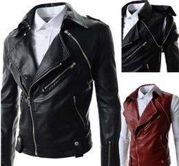Wholesale Korean Winter Fashion Design - 2015 Korean Fashion Coat Autumn Winter Warm Man Pu Leather Jacket Men'S Casual Coats Male Chaqueta Hombre Top Design Black Red Coat for men