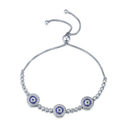 Wholesale Sterling Silver Evil Eye Charms - Balmer bracelet Europe and the United States silver female bracelet adjustable evil eye bracelet rope