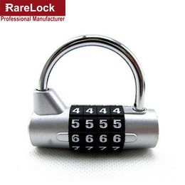 Wholesale Door Code - Wholesale- Rarelock 4 Digit Combination Travel Bag Luggage Suitcase Security Safe Lock Padlock Code Door Bicycle Locks a