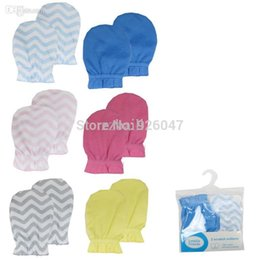 Wholesale Finger Gloves For Babies - Wholesale-2-pack USA Luvable Freinds Hot Sale Cute Baby Soft Cotton Newborn Infant Anti-Scratch Handguard Mittens Glove For New Year